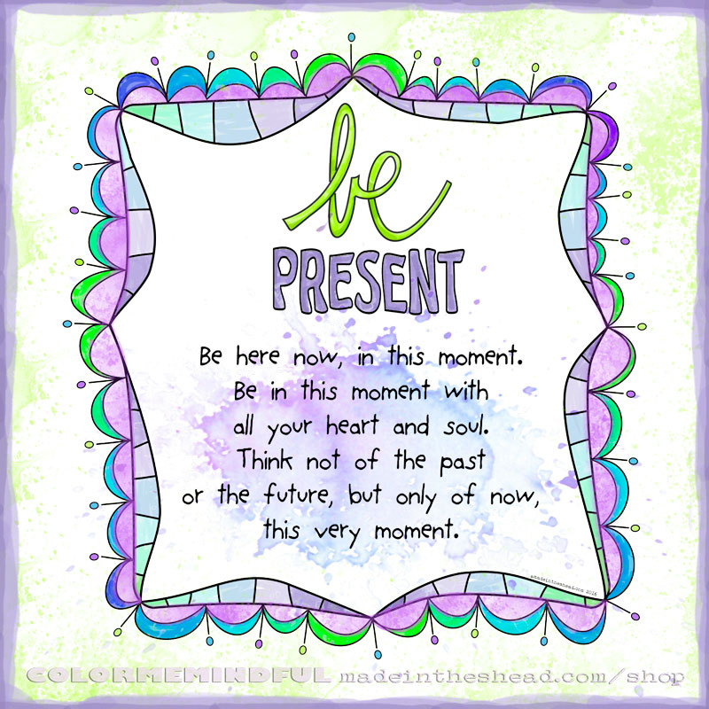 be present coloring page