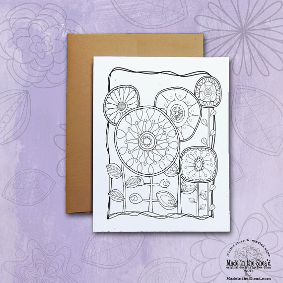 Color Me Recycled Paper Notecard It Yourself Or Give To Your Favorite Coloring