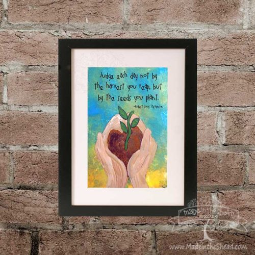 Judge Each Day Robert Louis Stevenson Quote on Recycled Paper…Great Teacher Gift!...unframed Lettering Design 4x6 or 5x7