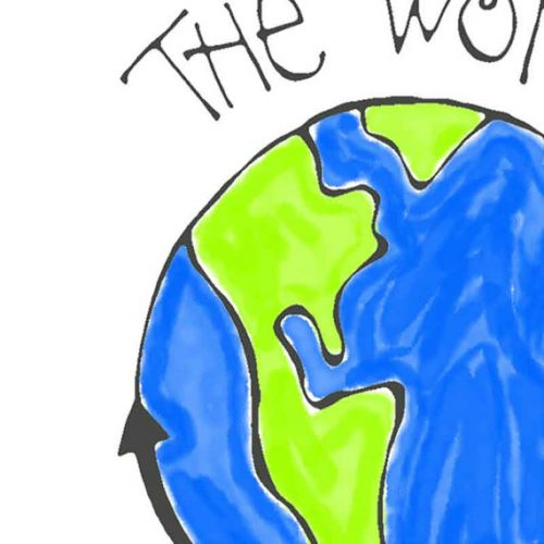 The World is Round Print on Recycled Paper…unframed Hand Lettering Design 4x6 or 5x7 Ivy Baker Quote