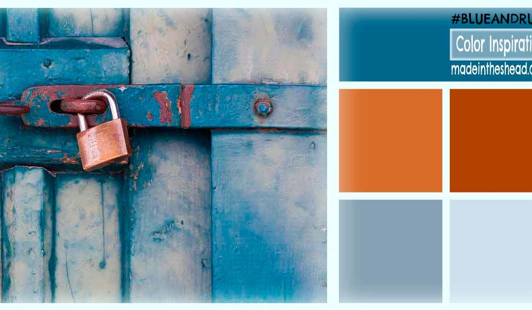 color inspiration: blue and rust