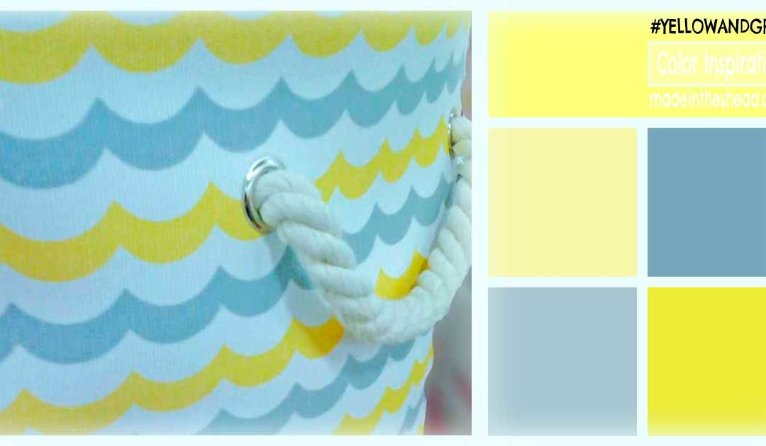 color inspiration: buttery yellow with gray