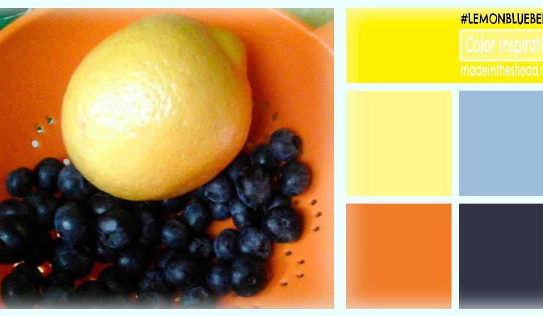 color inspiration: lemon blueberry