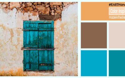 color inspiration: earth tones and blues