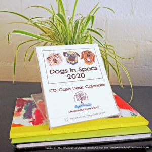 dogs in specs cd case calendar main image
