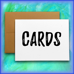 notecards and greeting cards by made in the shea'd