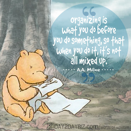 organizing according to pooh