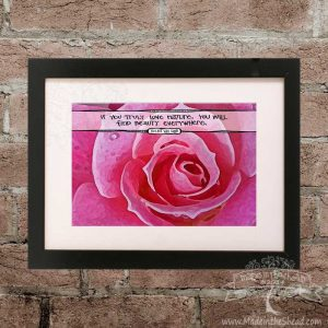 Van Gogh Quote Print on Recycled Paper…UNFRAMED Hand Lettering Design 4x6 if you truly love nature, you will find beauty everywhere
