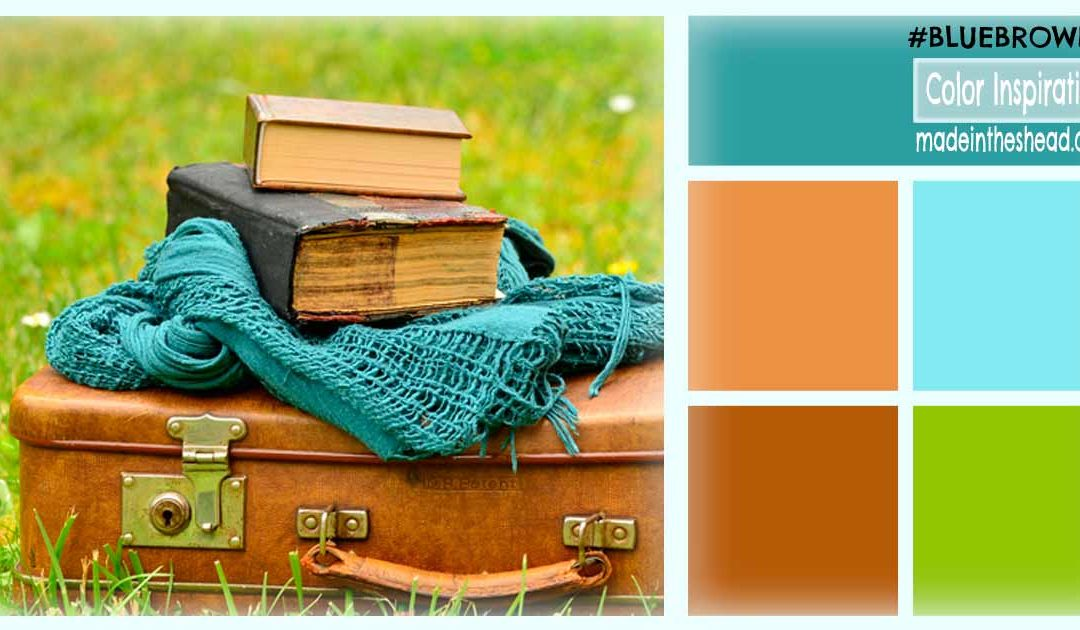 color inspiration: blue brown green