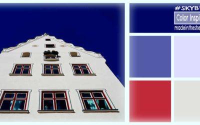 color inspiration: sky blue and stucco