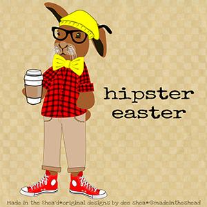 illustration hipster-easter