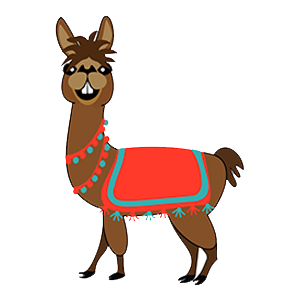 illustration llama