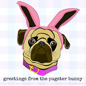 illustration pugster bunny version 2