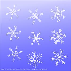 illustration snowflakes
