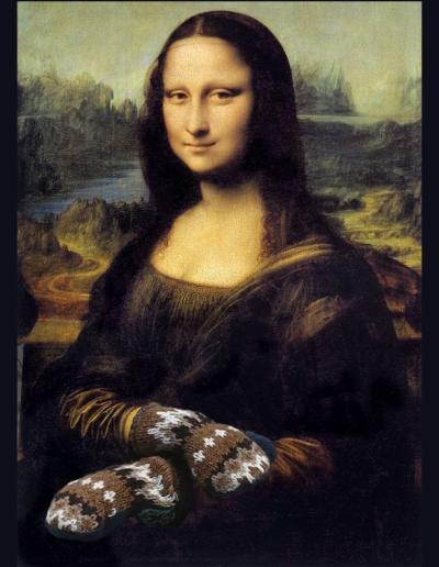 da vinci mona lisa with mittens