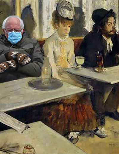 degas in a cafe with bernie