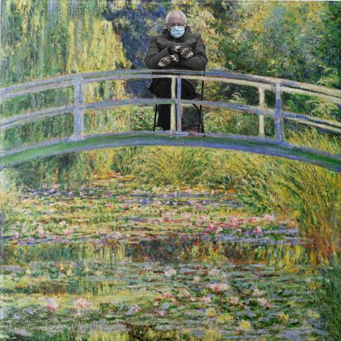 monet japanese bridge with water lilies with bernie
